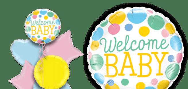 Welcome Baby Big Dots Balloon