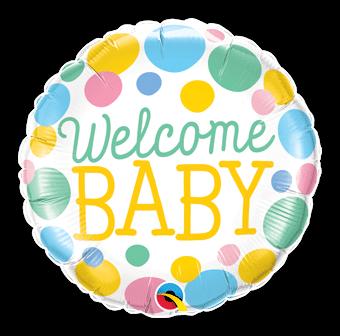 Welcome Baby Big Dots