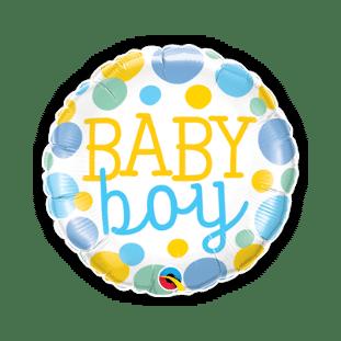 Baby Boy Big Dots Balloon