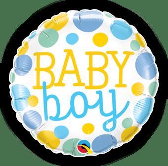 Baby Boy Big Dots