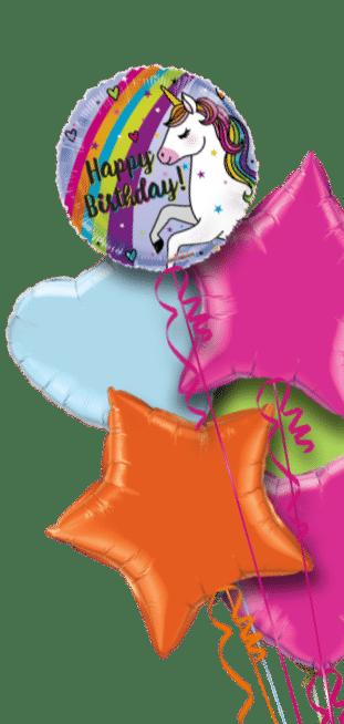 Rainbow Unicorn Birthday Balloon