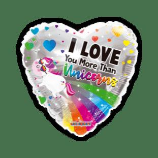 I Love You More Than Unicorns Balloon