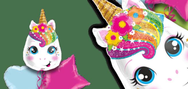 Magical Rainbow Unicorn Head Balloon