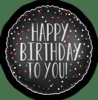 Happy Birthday To You Satin Dots