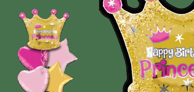 Happy Birthday Princess Crown Balloon