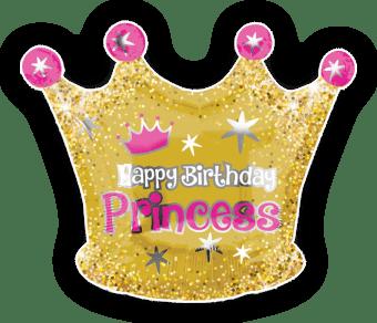 Happy Birthday Princess Crown