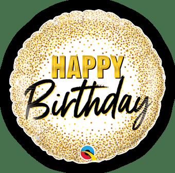 Birthday Gold Glitter Dots