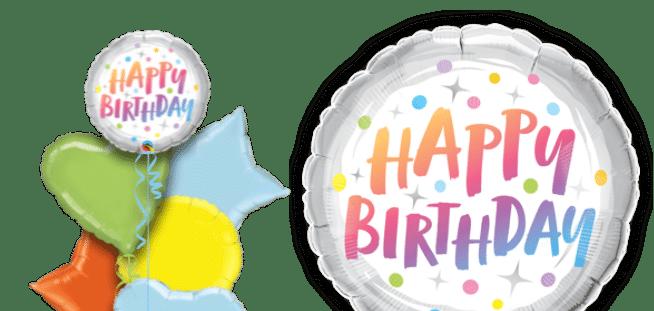 Birthday Rainbow Dots Balloon