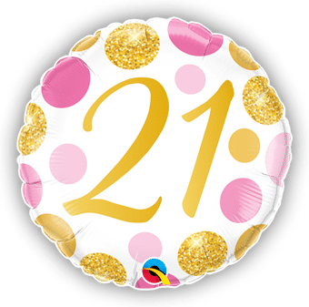 21 Pink and Gold Dots