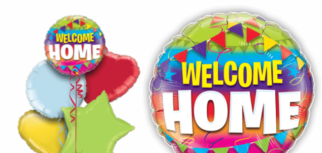 Welcome Home Flags Balloon