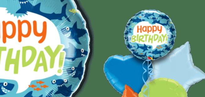 Birthday Fun Sharks Balloon