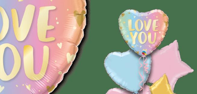 Love You Ombre Balloon