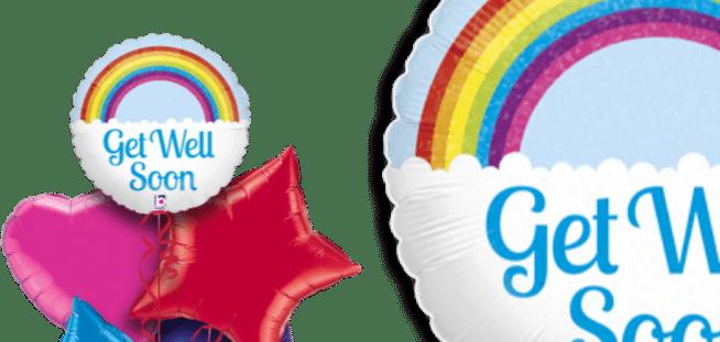 Get Well Soon Rainbow Balloon