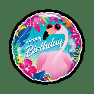 Birthday Tropical Flamingo Balloon