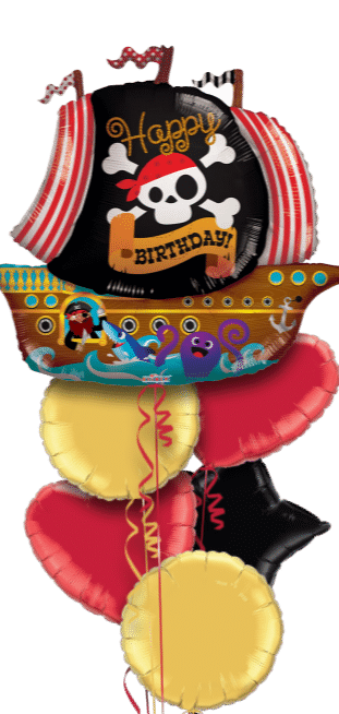 Happy Birthday Pirate Ship Balloon