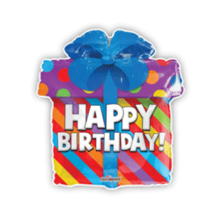 Happy Birthday Present Balloon