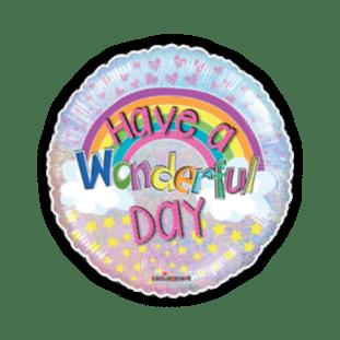 Have a Wonderful Day Rainbow Balloon