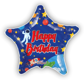 Birthday Spaceman Star