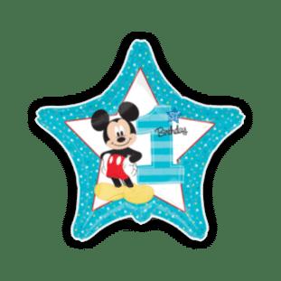Mickey Mouse 1st Birthday Star Balloon