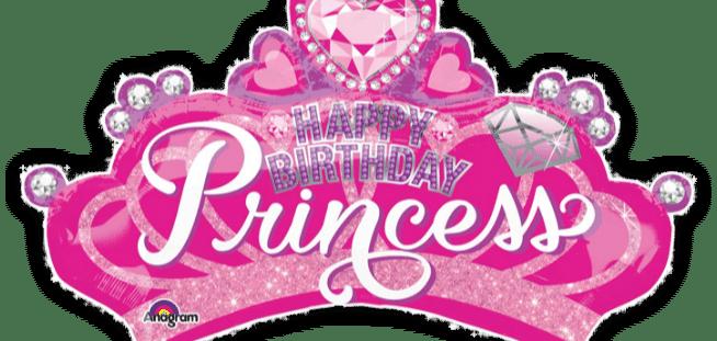 Princess Crown and Gem Balloon