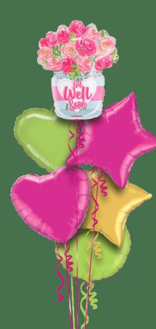 Get Well Flowers Vase Balloon