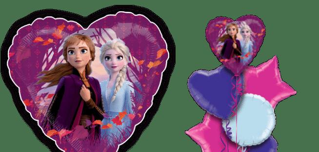 Frozen 2 Anna and Elsa Heart Balloon