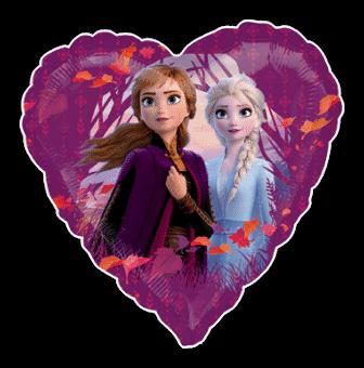 Frozen 2 Anna and Elsa Heart