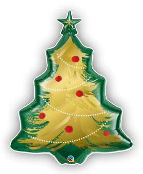 Christmas Tree Brushed Gold