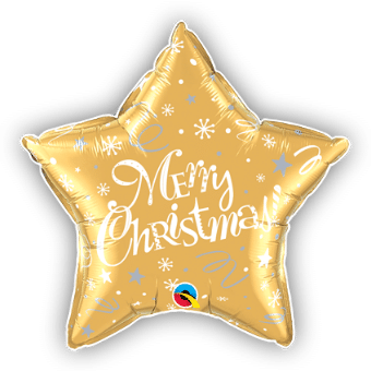 Merry Christmas Festive Gold Star