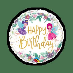 Birthday Wild Flower Fairies Balloon