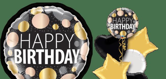 Birthday Big Metallic Dots Balloon