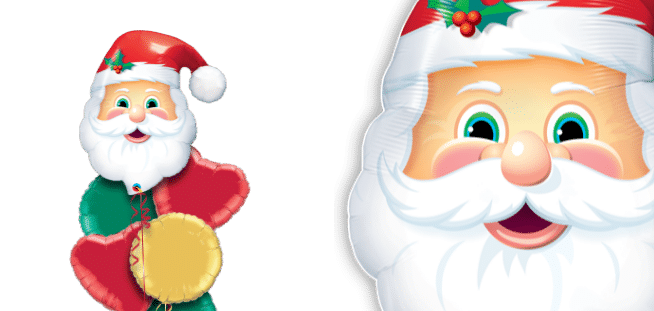 Jolly Santa Head Balloon
