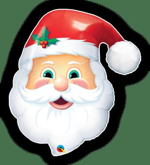 Jolly Santa Head