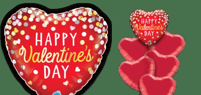 Valentines Confetti Balloon