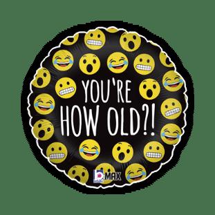 Emoji How Old Balloon