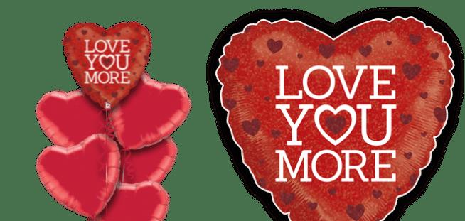 Love You More Balloon