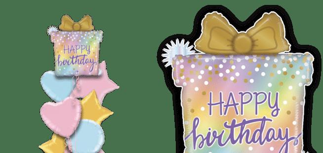 Opal Birthday Present Balloon