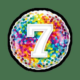 7 Rainbow Confetti Balloon