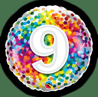 9 Rainbow Confetti