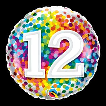 12 Rainbow Confetti