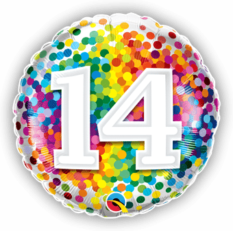 14 Rainbow Confetti