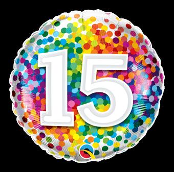 15 Rainbow Confetti