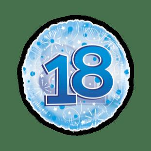 Jumbo Blue Streamers 18th Birthday Balloon