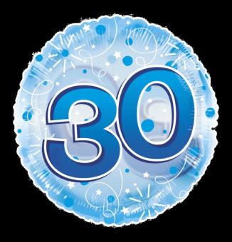 Jumbo Blue Streamers 30th Birthday