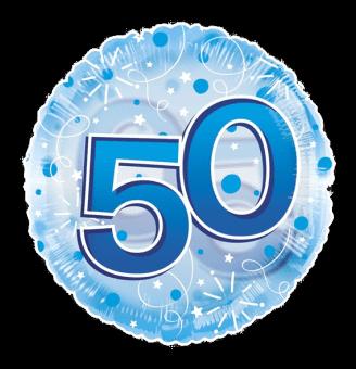 Jumbo Blue Streamers 50th Birthday