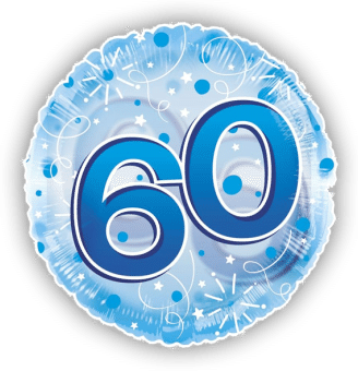 Jumbo Blue Streamers 60th Birthday