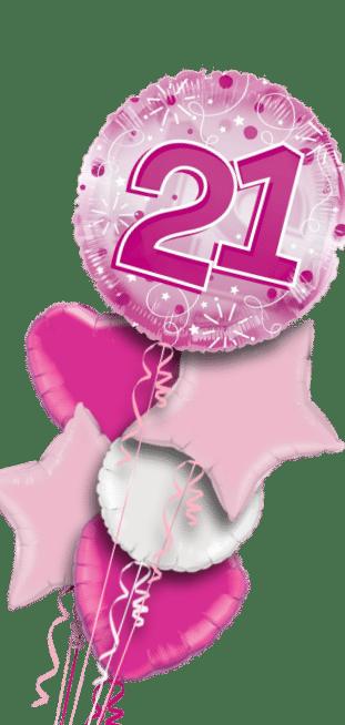 Jumbo Pink Streamers 21st Birthday Balloon