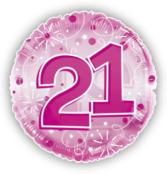 Jumbo Pink Streamers 21st Birthday