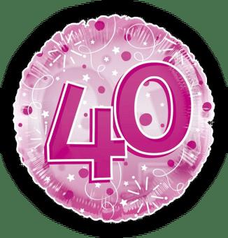 Jumbo Pink Streamers 40th Birthday