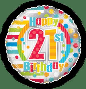 Colourful 21st Birthday